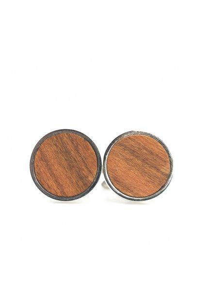 Pánské dřevěné manžetové knoflíčky Prunus | JAA∞TY