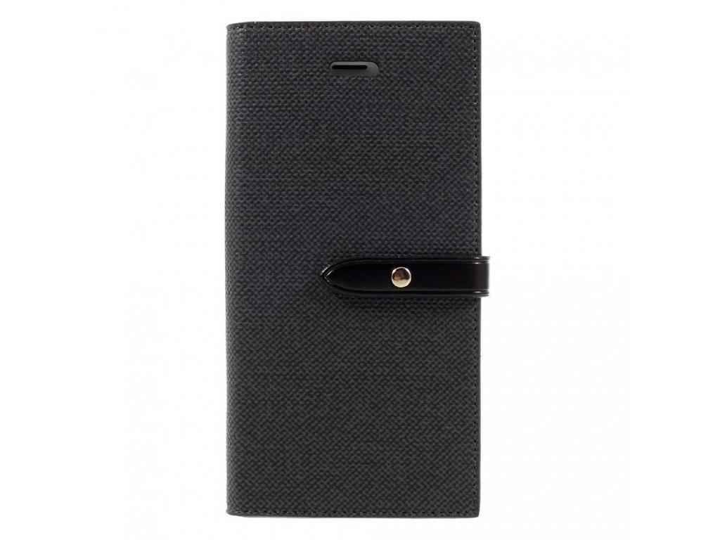 Pouzdro / kryt pro iPhone 7 / 8 / SE (2020) - Mercury, Milano Diary BLACK/BLACK