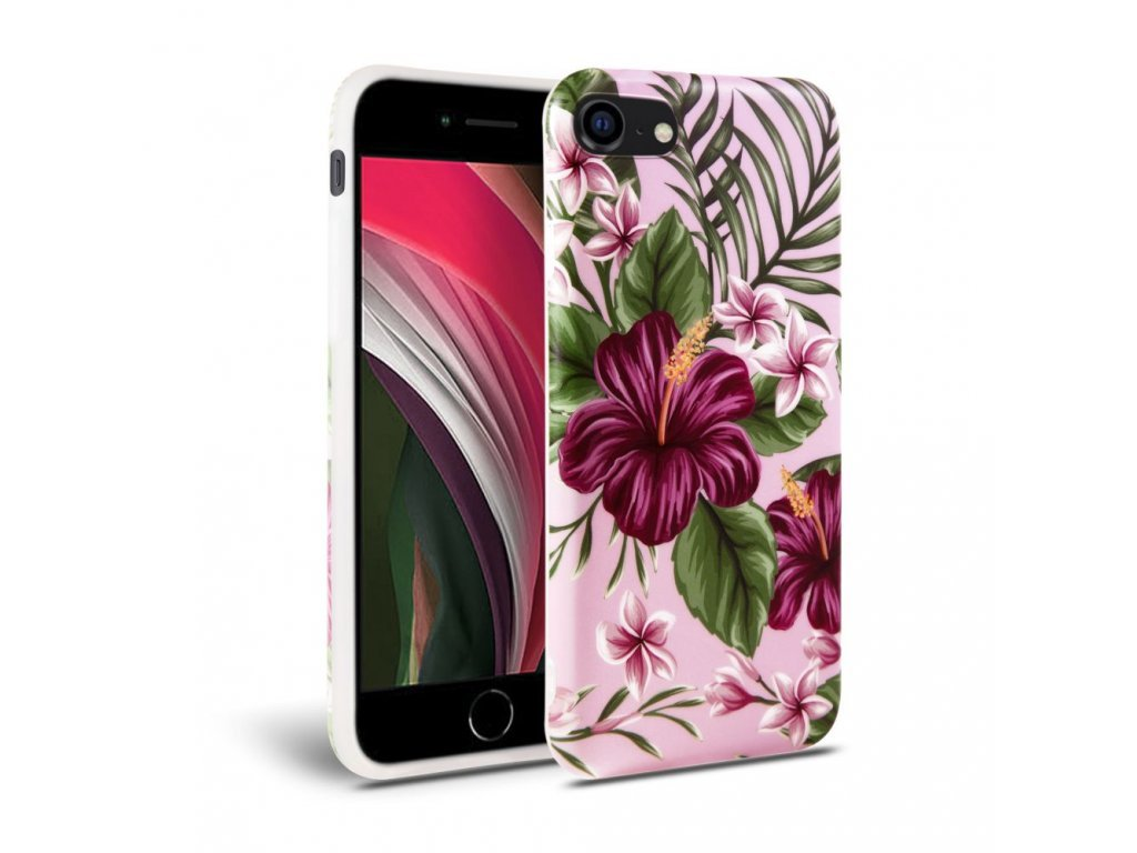 27869 ochranny kryt pro iphone 7 8 se 2020 tech protect floral pink