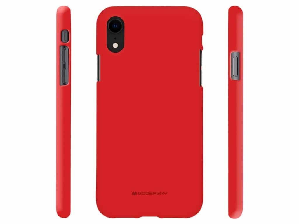 Ochranný kryt pro iPhone XR - Mercury, Soft Feeling Red