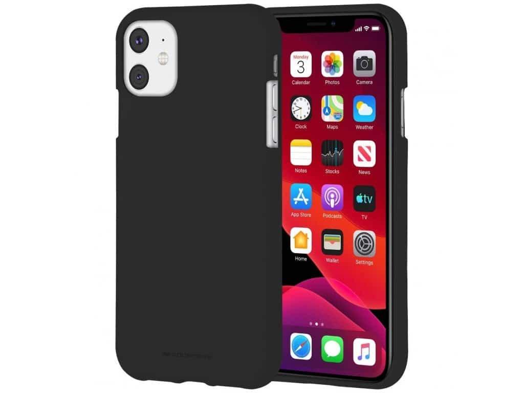 Ochranný kryt pro iPhone 11 - Mercury, Soft Feeling Black