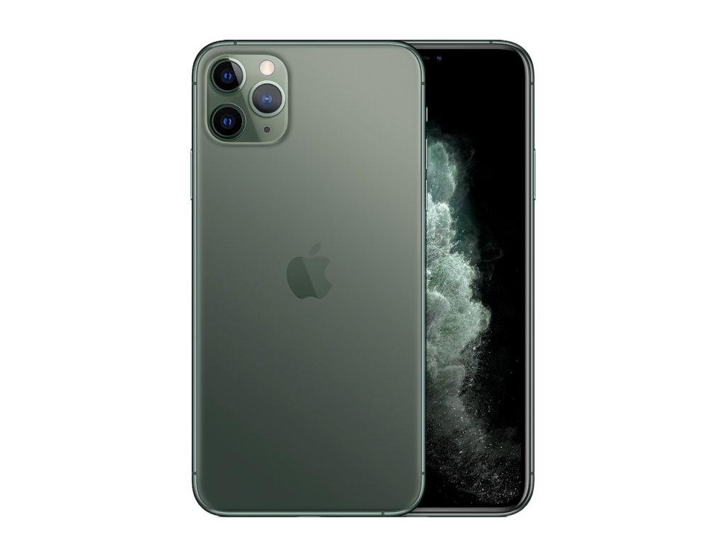 iPhone 11 Pro Max 256GB (Stav A-) Půlnočně zelená  Ochranné sklo a nalepení ZDARMA!