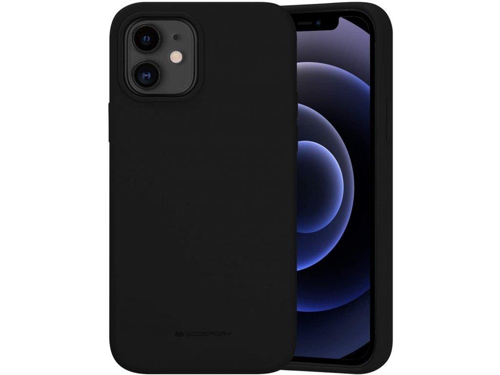 36518 ochranny kryt pro iphone 12 12 pro mercury silicone black