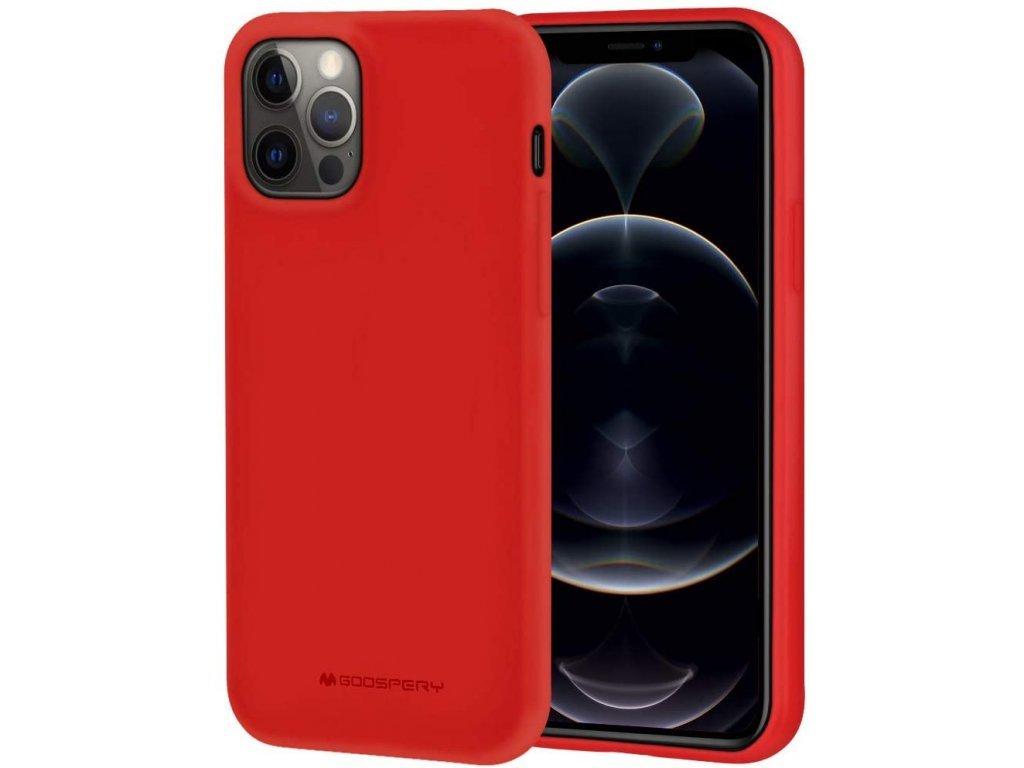36779 ochranny kryt pro iphone 12 pro max mercury soft feeling red