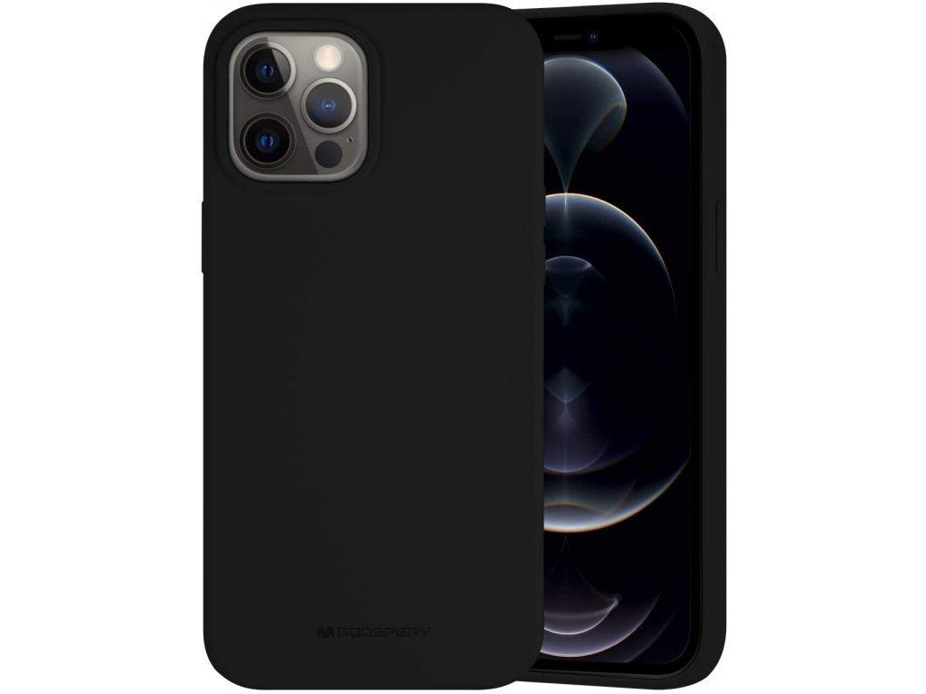 36539 ochranny kryt pro iphone 12 pro max mercury silicone black