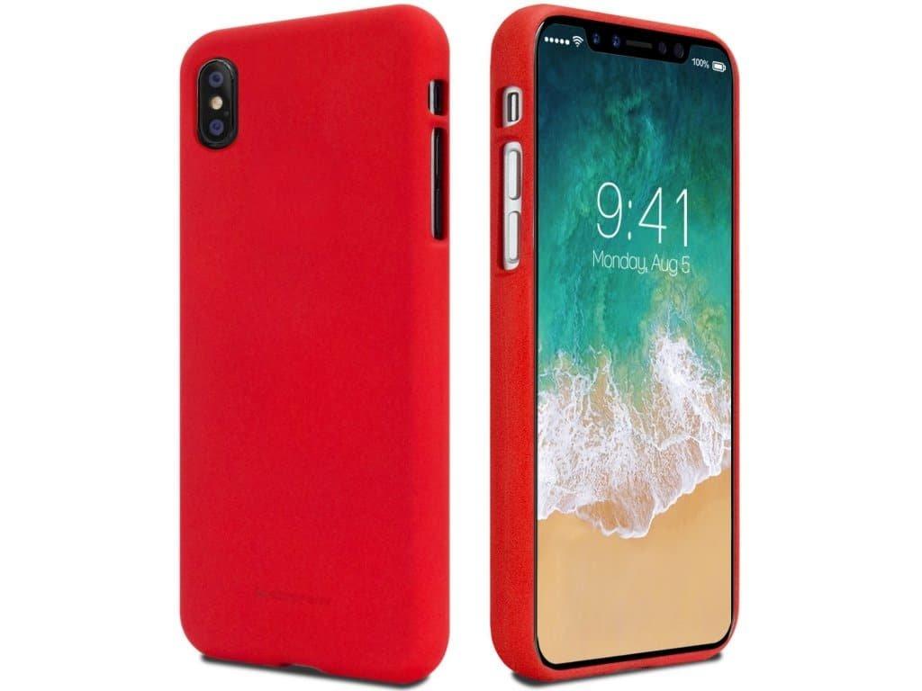 Ochranný kryt pro iPhone XS / X - Mercury, Soft Feeling Red