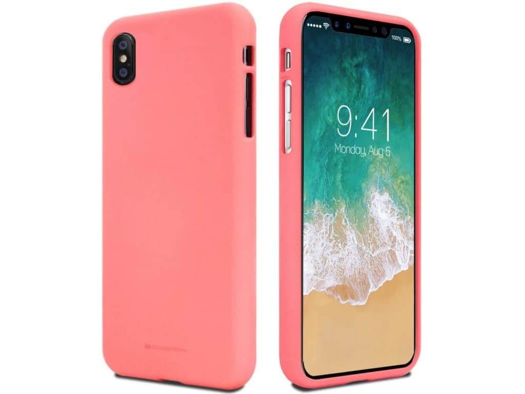 Ochranný kryt pro iPhone XS / X - Mercury, Soft Feeling Pink