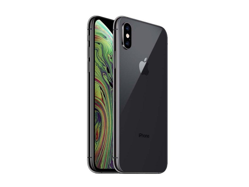 iPhone Xs 64GB (Stav A-) Vesmírně šedá  Sklo + powerbanka ZDARMA!