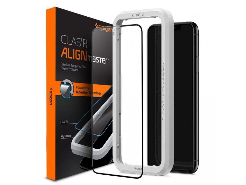 38000 4 ochranne tvrzene sklo pro iphone xr 11 spigen alignmaster fc s aplikatorem
