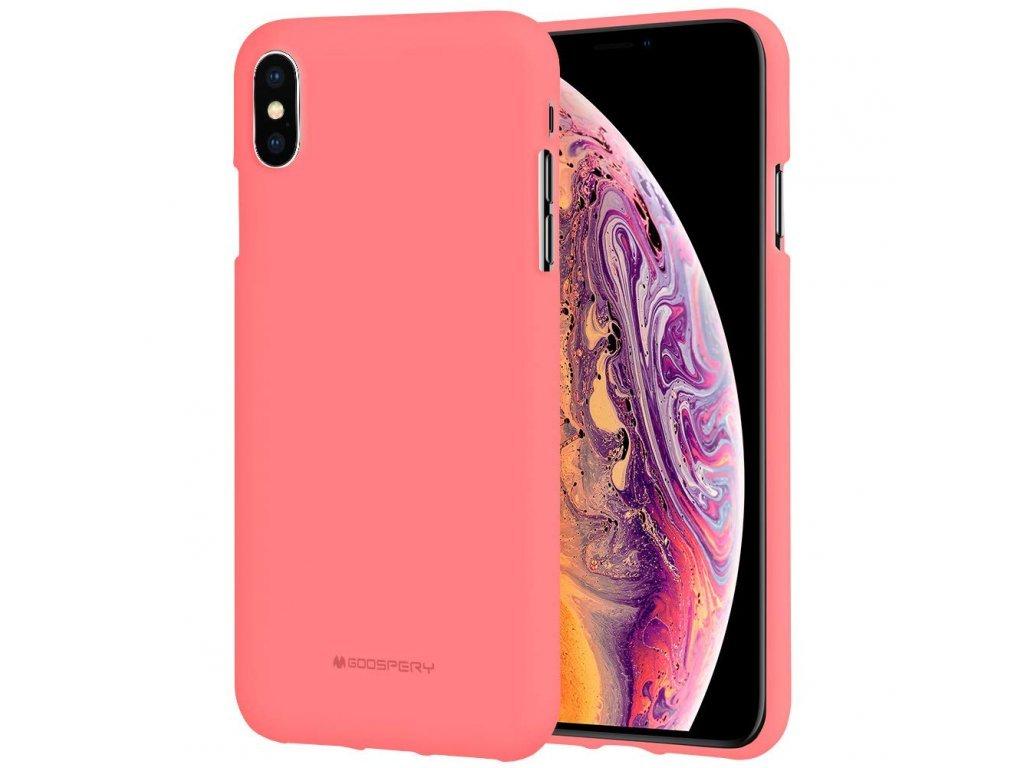 16310 ochranny kryt pro iphone xs max mercury soft feeling pink
