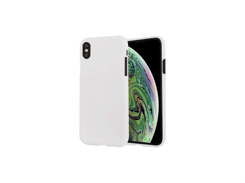 16322 ochranny kryt pro iphone xs max mercury soft feeling white