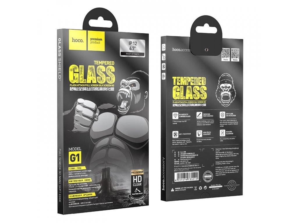 34919 7 ochranne tvrzene sklo pro iphone 12 pro max hoco g1 flashattach