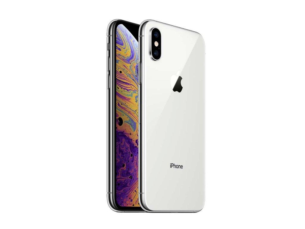 iPhone Xs 64GB (Stav A-) Stříbrná  Sklo + powerbanka ZDARMA!