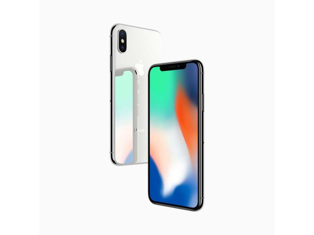 iPhone X 64GB (Stav A-) Stříbrná  ochranné sklo a nalepení ZDARMA!