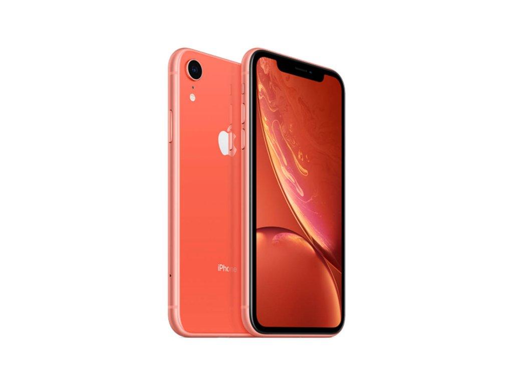 iPhone Xr 64GB Korálová (Stav A-)  Ochranné sklo a nalepení ZDARMA!