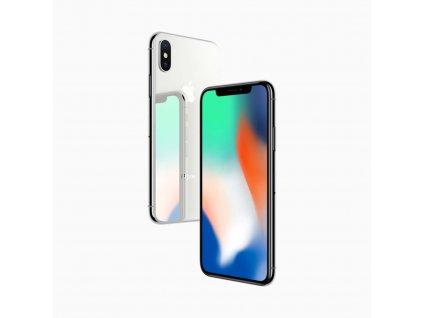 iPhone X 64GB (Stav A) Stříbrná  ochranné sklo a nalepení ZDARMA!