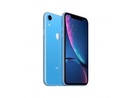 iPhone Xr 64GB (Stav A-) Modrá  ochranné sklo a nalepení ZDARMA!