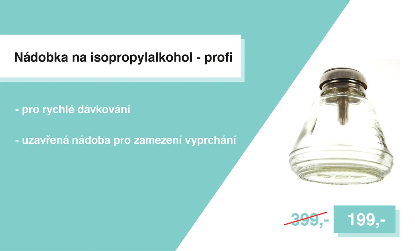 Nádobka na isopropylalkohol - profi