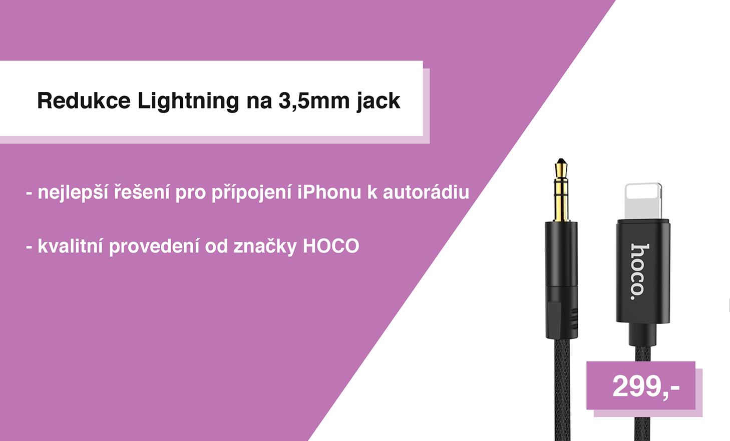 Redukce Lightning na 3,5mm jack