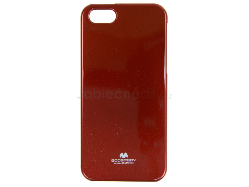 Ochranný kryt Goospery Jelly iPhone 5/5s/SE - červený