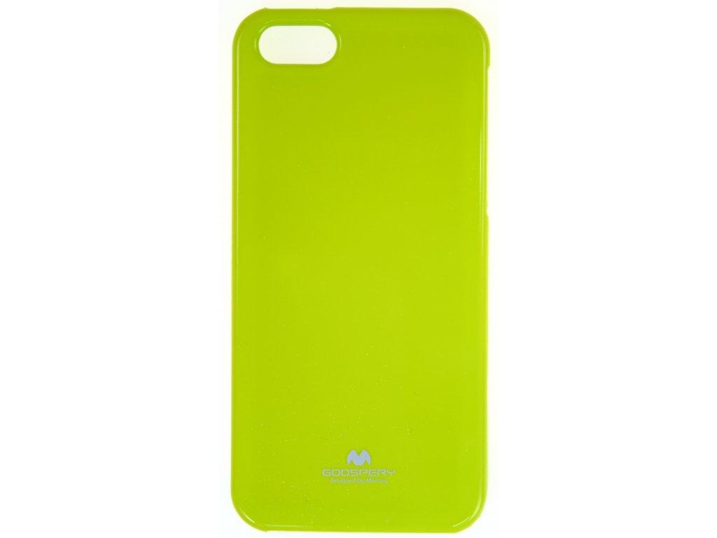 Ochranný kryt Goospery Jelly iPhone 5/5s/SE - zelený