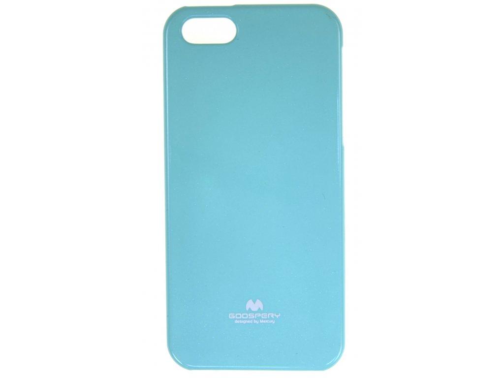 Ochranný kryt Goospery Jelly iPhone 5/5s/SE - tyrkysový