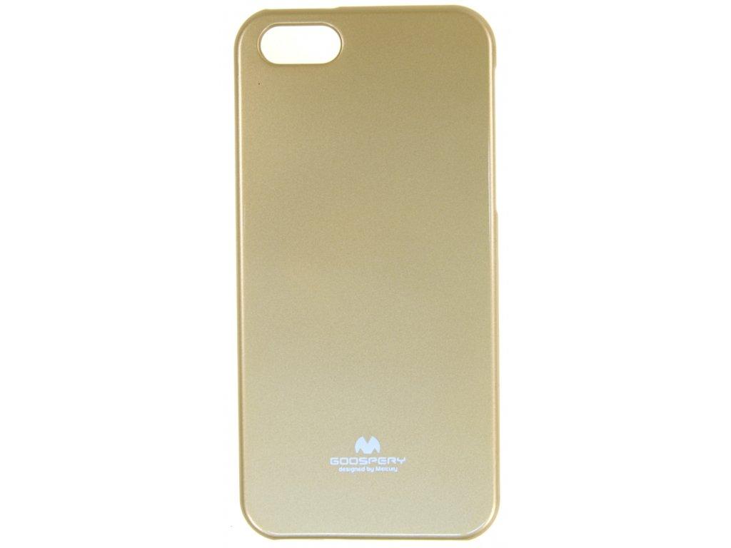 Ochranný kryt Goospery Jelly iPhone 5/5s/SE - zlatý