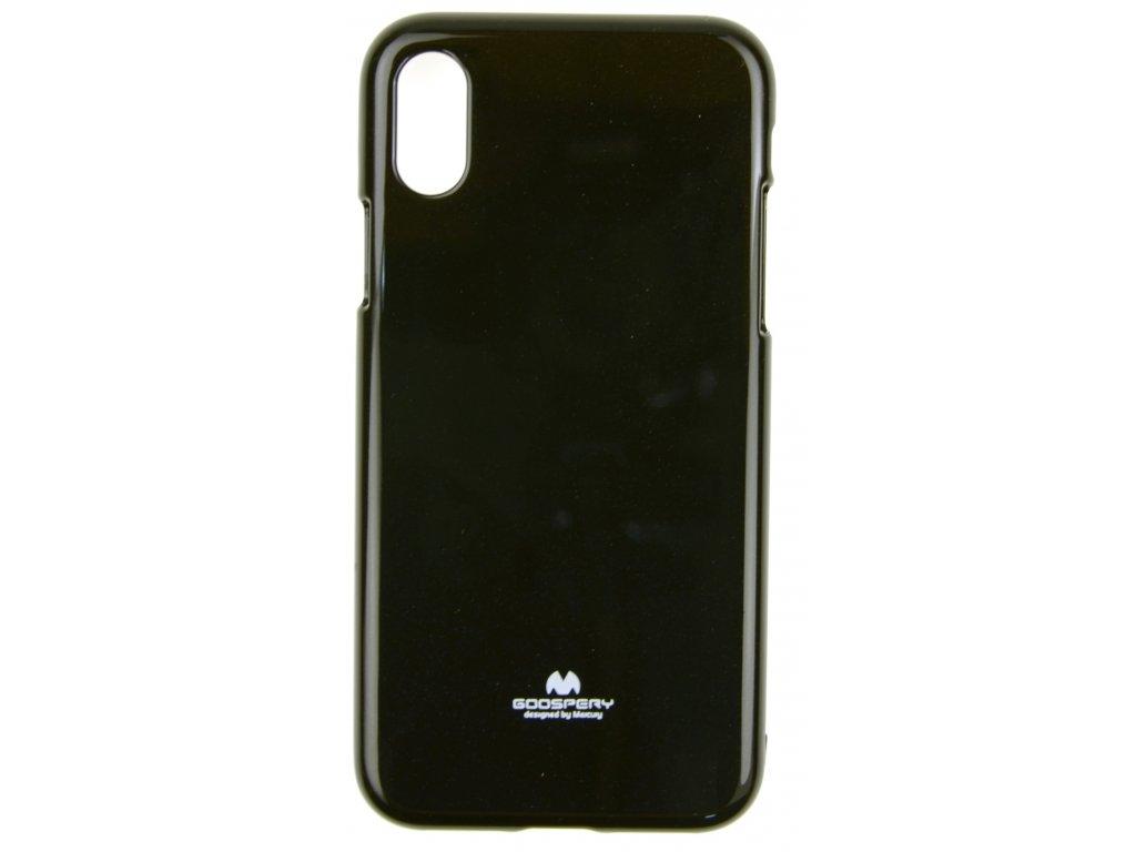 Ochranný kryt Goospery Jelly iPhone X/XS - černý