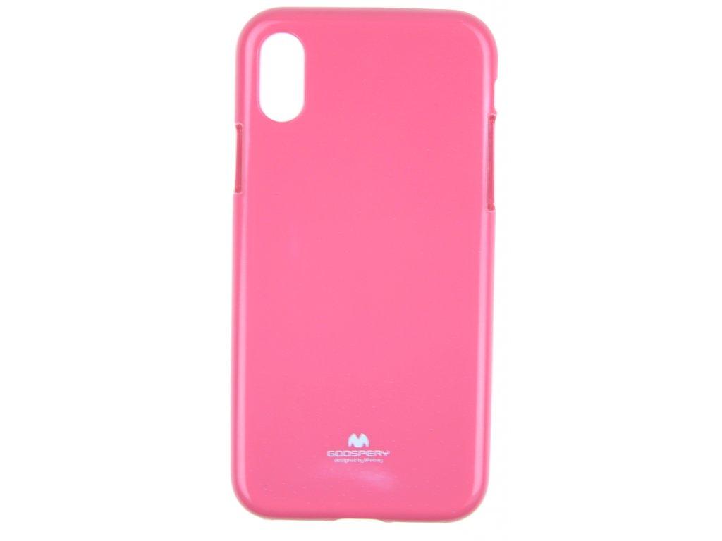 Ochranný kryt Goospery Jelly iPhone X/XS - růžový