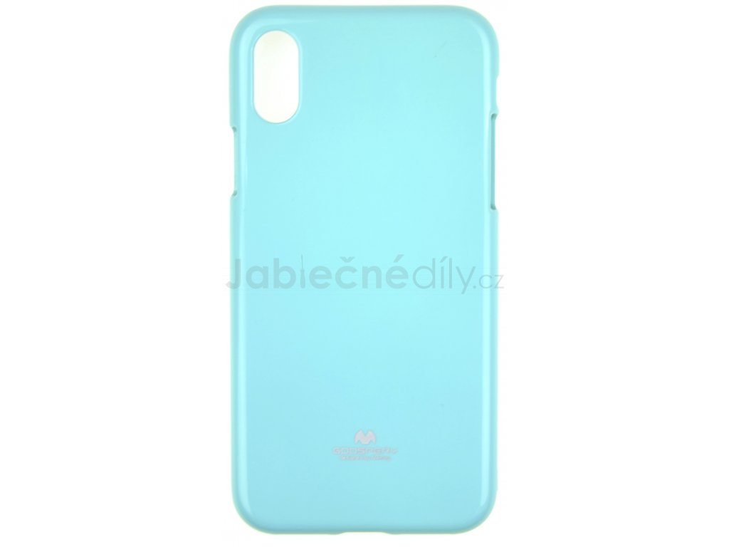 Ochranný kryt Goospery Jelly iPhone X/XS - tyrkysový