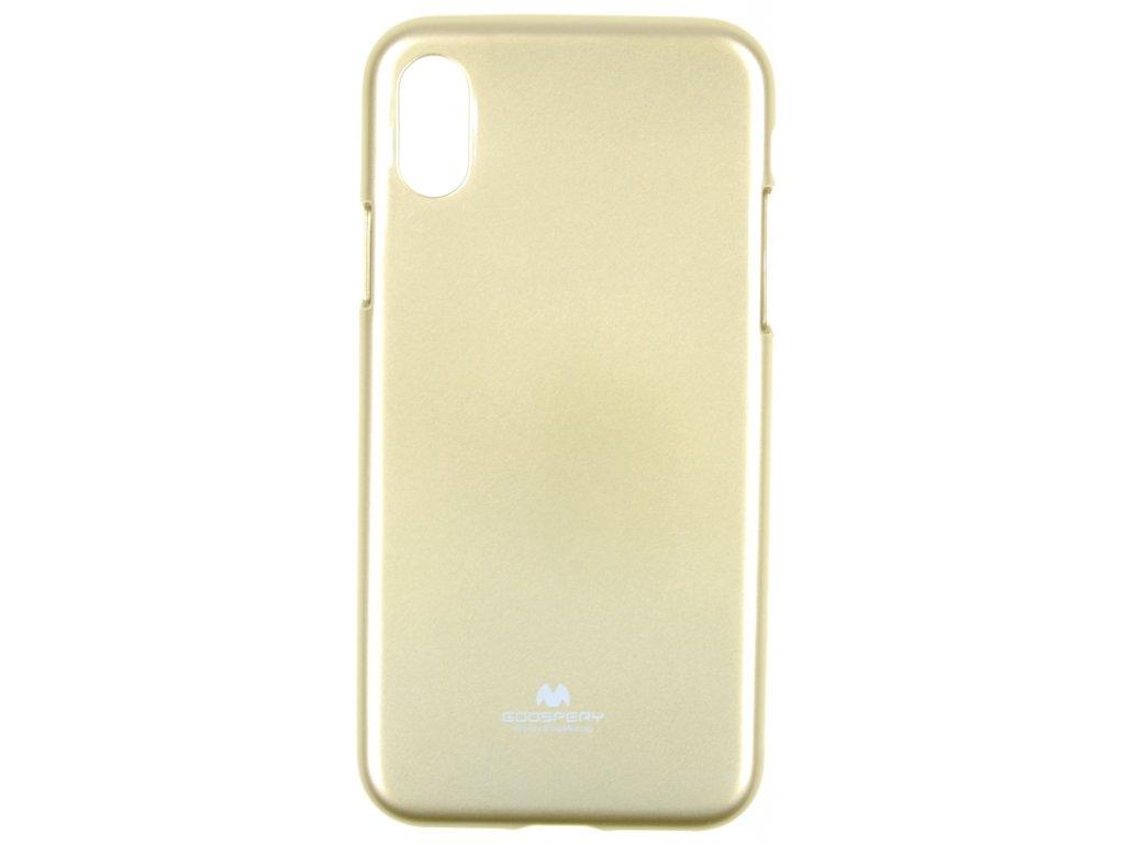 Ochranný kryt Goospery Jelly iPhone X/XS - zlatý