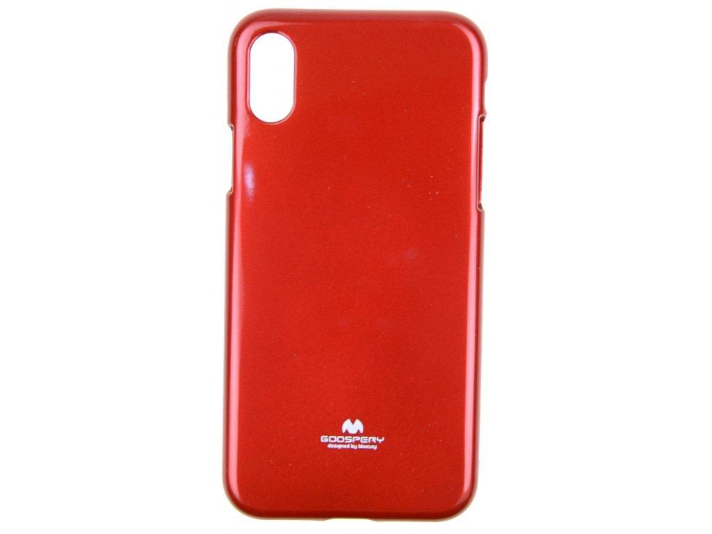 Ochranný kryt Goospery Jelly iPhone XS Max - červený