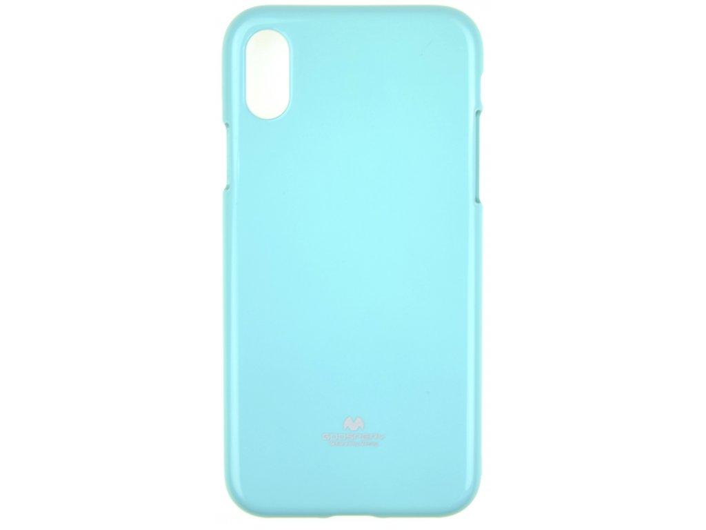 Ochranný kryt Goospery Jelly iPhone XS Max - tyrkysový