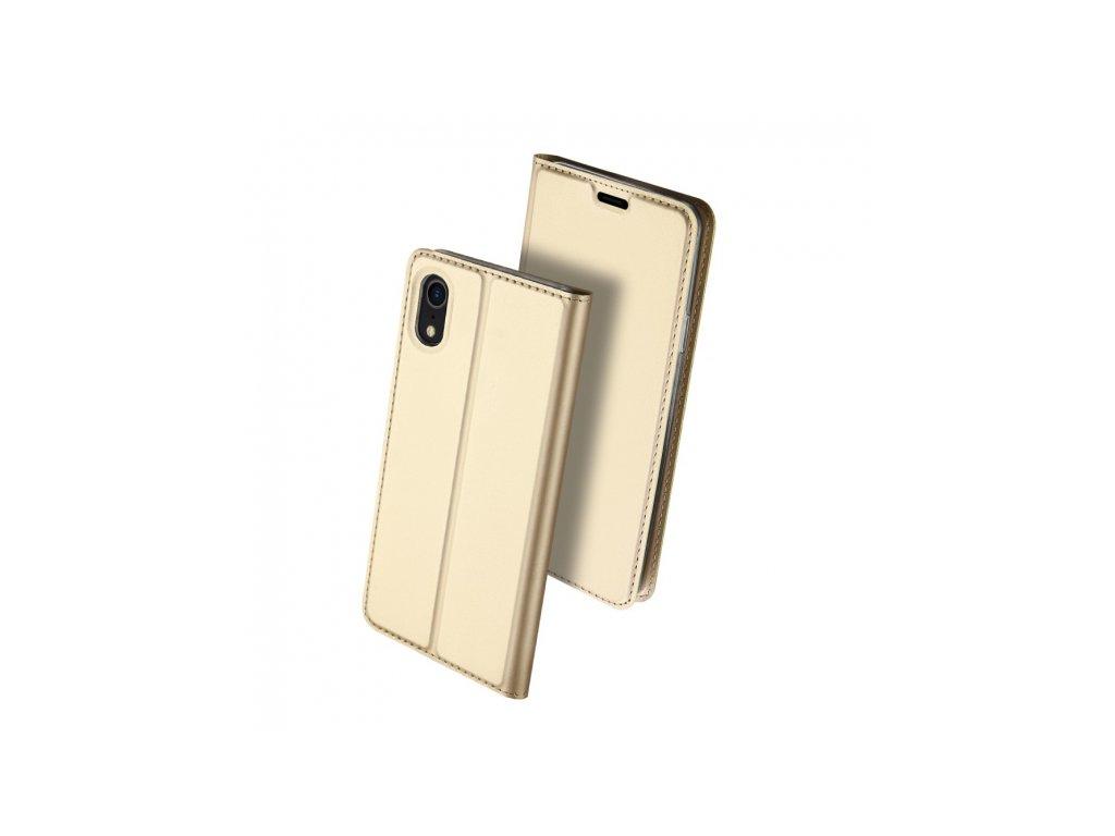 dux ducis flipove pouzdro pro iphone xr zlata