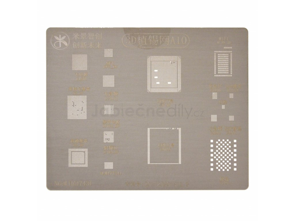 3D Šablona pro reball A10 - iPhone 7/7+