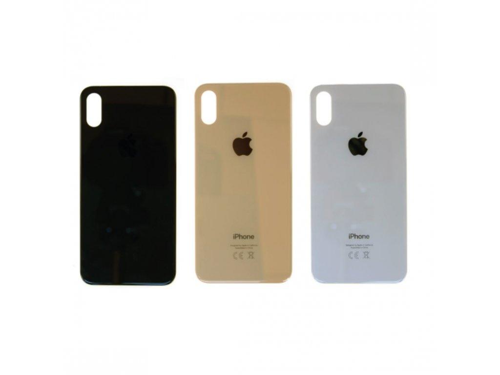 Zadní sklo iPhone XS (větší otvor na kameru)