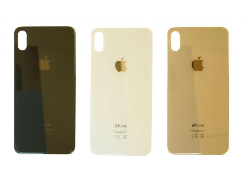 Zadní sklo iPhone XS Max (větší otvor na kameru)