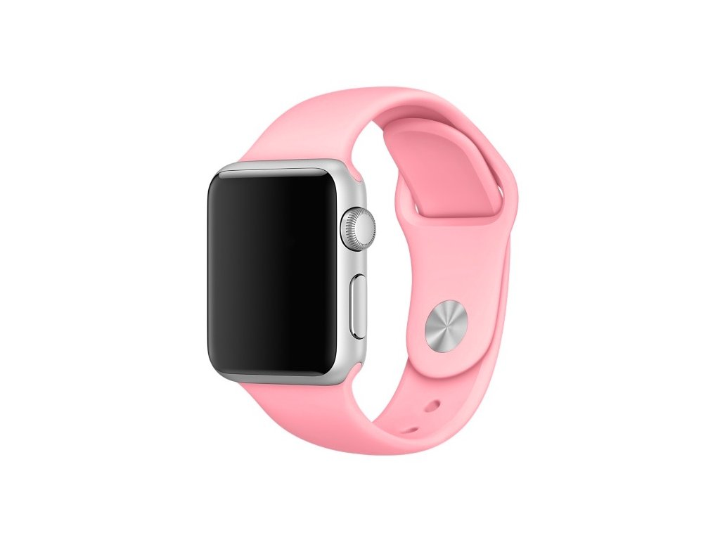 apple watch band silicone sport pink 38mm