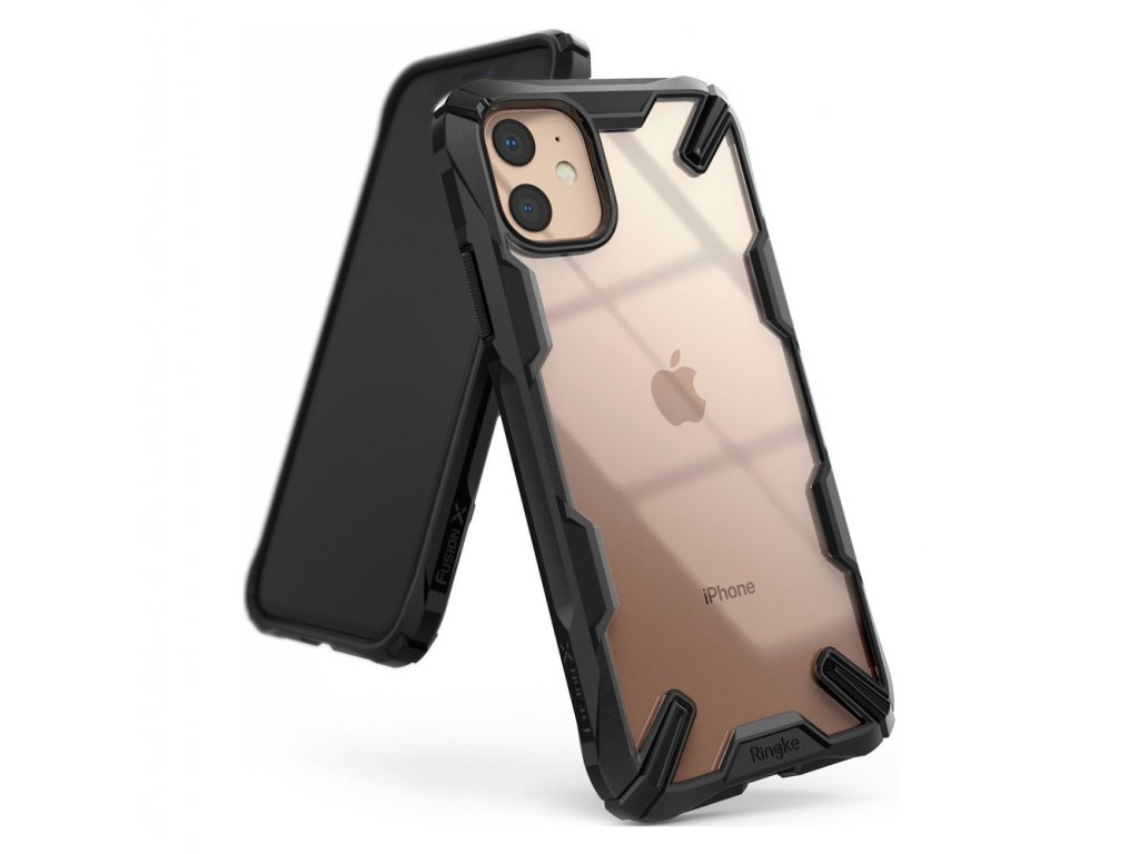 eng pl Ringke Fusion X durable PC Case with TPU Bumper for iPhone 11 black FUAP0016 53420 1