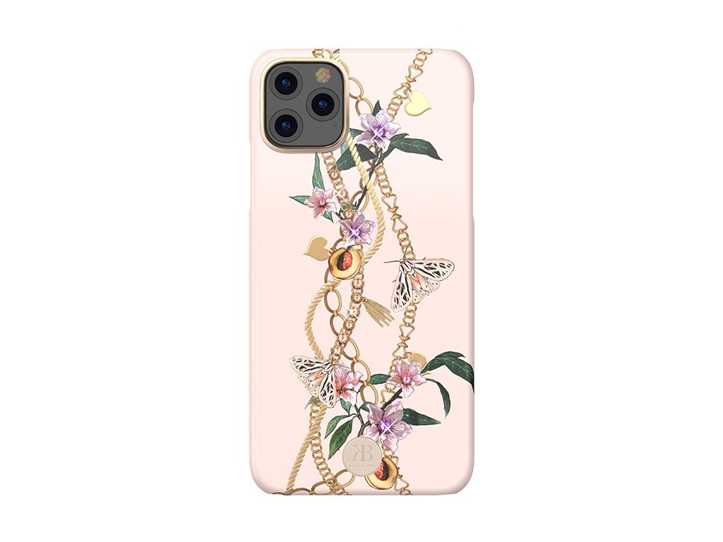 eng pl Kingxbar Luxury Series case decorated with original Swarovski crystals iPhone 11 Pro pink 53467 1