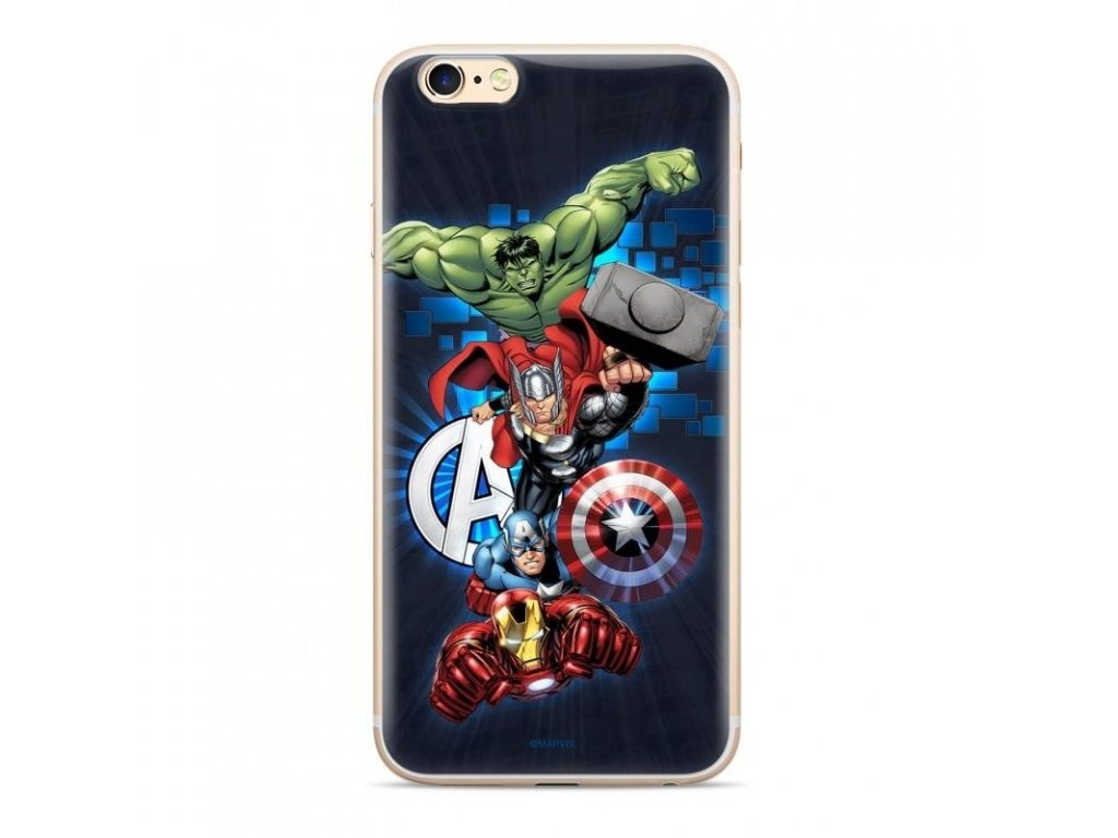eng pl Original case Marvel Avengers 001 for iPhone XS iPhone X marineblau MPCAVEN045 57901 1