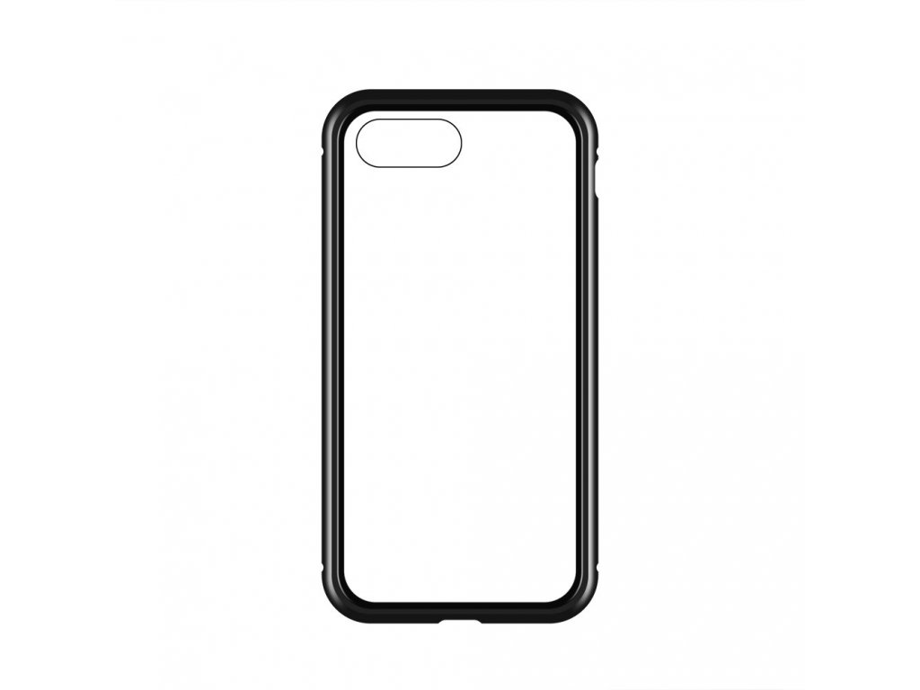eng pl Wozinsky Full Magnetic Case Full Body Front and Back Cover with built in glass for iPhone 8 7 black transparent 48524 21