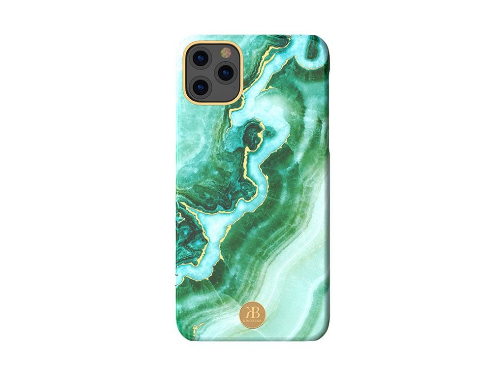 eng pl Kingxbar Marble Series case decorated printed marble iPhone 11 green 62189 1