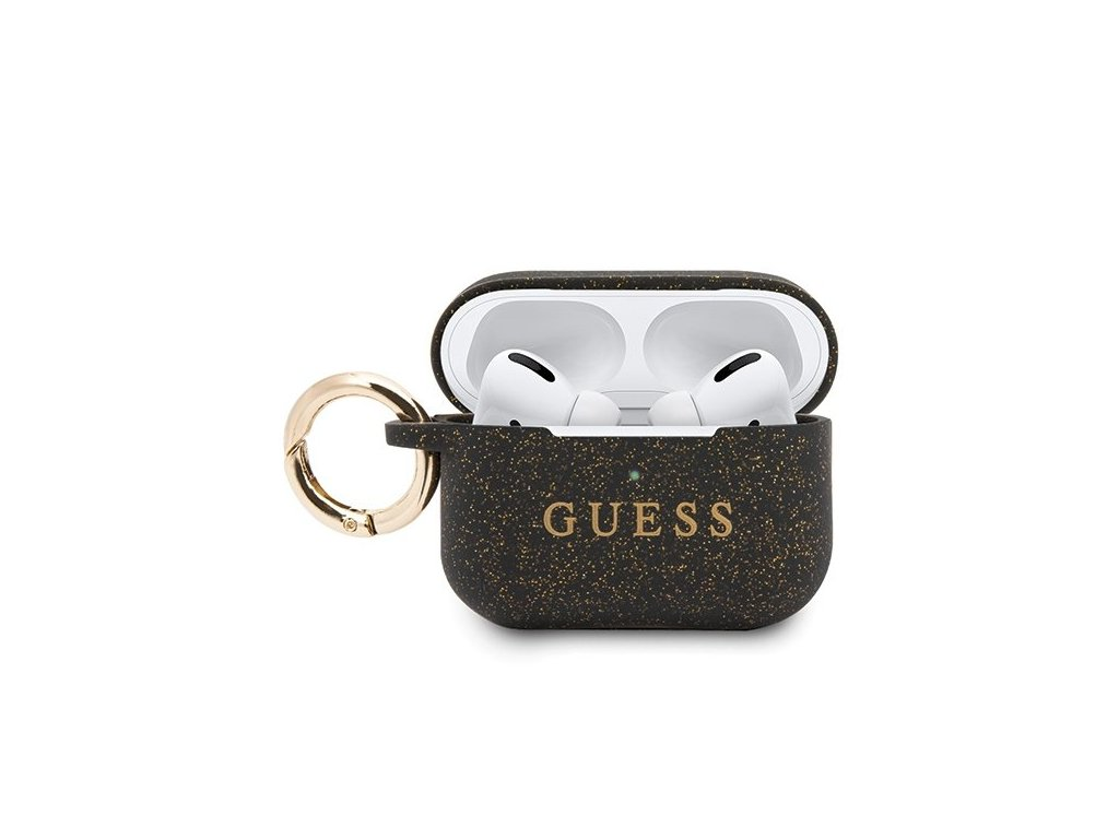 eng pl Guess GUACAPSILGLBK AirPods Pro cover black black Silicone 58531 1