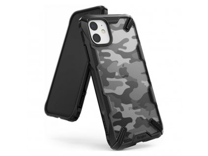 eng pl Ringke Fusion X Design durable PC Case with TPU Bumper for iPhone 11 Camo Black XDAP0003 53421 1 1
