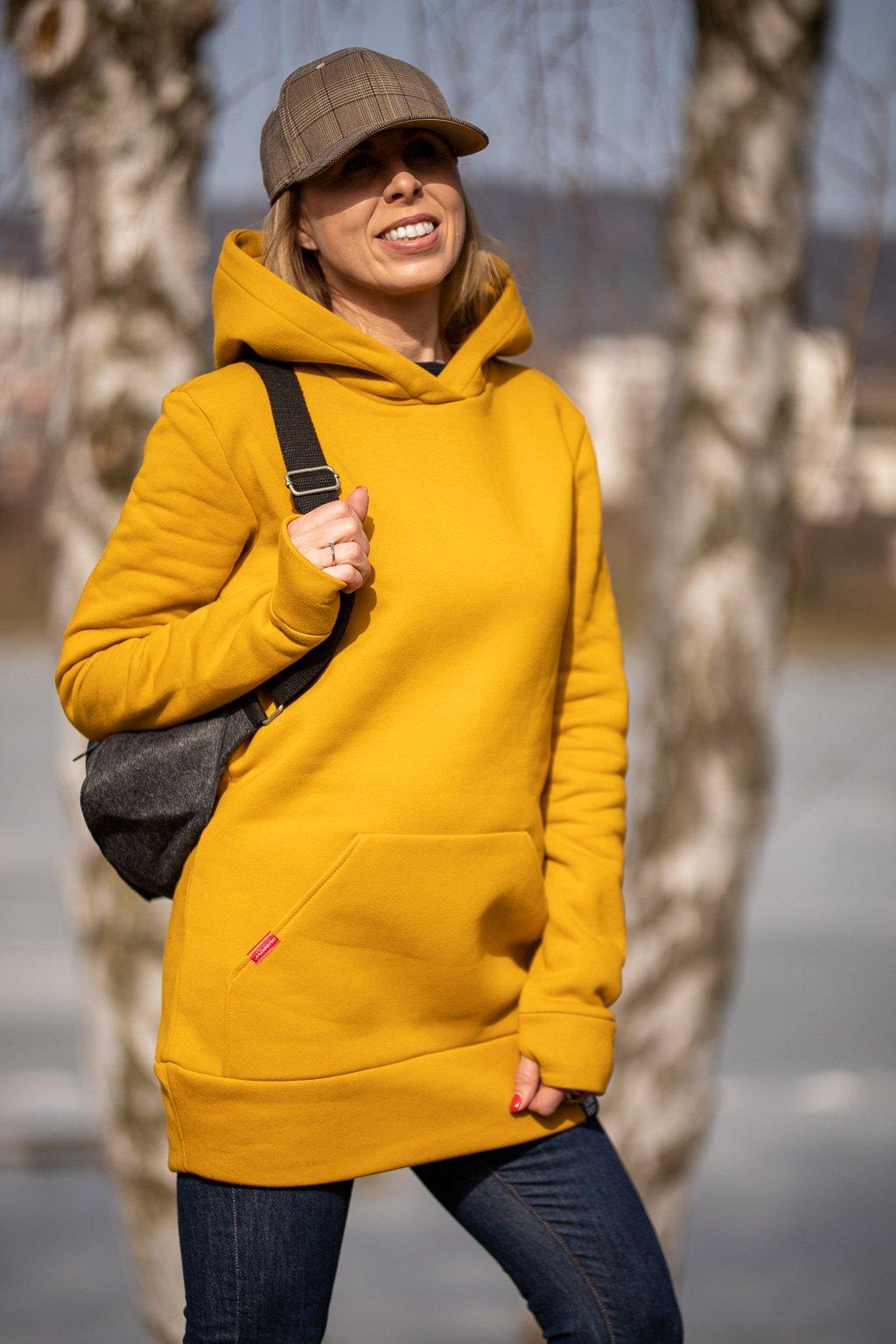 damska mikina s kapuci hoodie jadberg horcicova 1 15