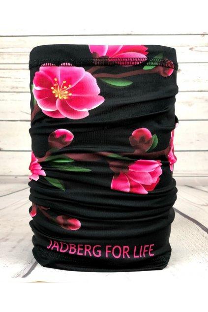 jadberg nakrcnik sakura blk neck warmer 5