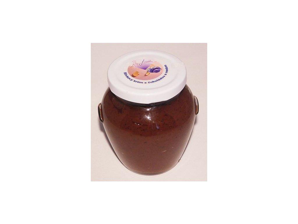 Slivkový krém s čokoládou a medom
