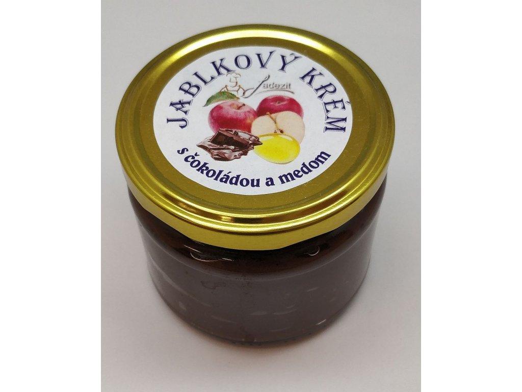 Jablkový krém s čokoládou a medom