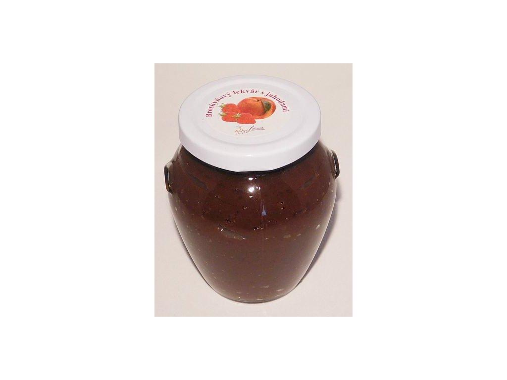 Broskyňový lekvár s jahodami